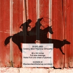 Cowboy Steer Roundup Silhouette Yard Art Woodworking Pattern