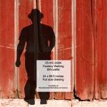 Cowboy Walking Silhouette Yard Art Woodworking Pattern