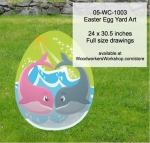 05-WC-1003 - Easter Egg Yard Art Woodworking Pattern