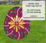 Easter Egg Yard Art Woodworking Pattern