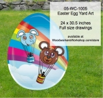 05-WC-1005 - Easter Egg Yard Art Woodworking Pattern