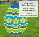 05-WC-1006 - Easter Egg Yard Art Woodworking Pattern