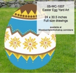 05-WC-1007 - Easter Egg Yard Art Woodworking Pattern