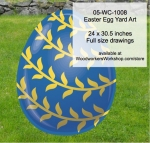 05-WC-1008 - Easter Egg Yard Art Woodworking Pattern