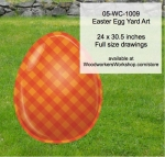 Easter Egg Yard Art Woodworking Pattern, cross hatch,orange,easter eggs,yard art,painting wood crafts,scrollsawing patterns,drawings,plywood,plywoodworking plans,woodworkers projects,workshop blueprints