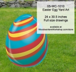 05-WC-1010 - Easter Egg Yard Art Woodworking Pattern
