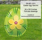 Easter Egg Yard Art Woodworking Pattern, stripes,flowers,easter eggs,yard art,painting wood crafts,scrollsawing patterns,drawings,plywood,plywoodworking plans,woodworkers projects,workshop blueprints