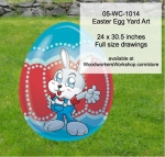 05-WC-1014 - Easter Egg Yard Art Woodworking Pattern