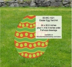 05-WC-1021 - Easter Egg Yard Art Woodworking Pattern