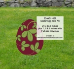 05-WC-1027 - Easter Egg Yard Art Woodworking Pattern