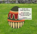 Easter Egg Yard Art Woodworking Pattern, easter eggs,yard art,painting wood crafts,scrollsawing patterns,drawings,plywood,plywoodworking plans,woodworkers projects,workshop blueprints