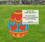 05-WC-1037 - Easter Egg Yard Art Woodworking Pattern