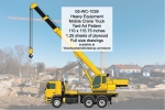 05-WC-1039 - Heavy Equipment Mobile Crane Truck Yard Art Woodworking Pattern