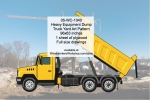 Heavy Equipment Dump Truck Yard Art Woodworking Pattern