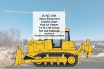 05-WC-1044 - Heavy Equipment Crawler Dozer Yard Art Woodworking Pattern