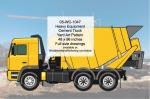 Heavy Equipment Concrete Truck Yard Art Woodworking Pattern