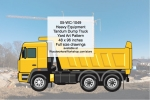 Heavy Equipment COE Tandem Dump Truck Yard Art Woodworking Pattern