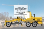 05-WC-1052 - Heavy Equipment Road Grader Yard Art Woodworking Pattern