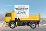 Heavy Equipment Single Axle Dump Truck Yard Art Woodworking Pattern