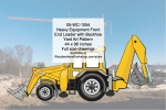 Heavy Equipment Front End Loader Backhoe Yard Art Woodworking Pattern