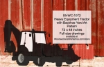 05-WC-1072 - Heavy Equipment Farm Tractor with Backhoe Yard Art Woodworking Pattern