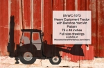 05-WC-1073 - Heavy Equipment Farm Tractor with Backhoe Yard Art Woodworking Pattern