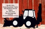 Heavy Equipment Tractor with Backhoe Yard Art Woodworking Pattern, Tractor with Backhoes,heavy equipment,yard art,painting wood crafts,scrollsawing patterns,drawings,plywood,plywoodworking plans,woodworkers projects,workshop blueprints