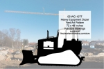 05-WC-1077 - Heavy Equipment Dozer Yard Art Woodworking Pattern