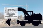Heavy Equipment Mobile Excavator Yard Art Woodworking Pattern