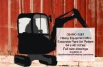 Heavy Equipment Mini Excavator Yard Art Woodworking Pattern