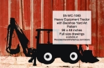 Heavy Equipment Tractor with Backhoe Yard Art Woodworking Pattern, farm tractors,heavy equipment,yard art,painting wood crafts,scrollsawing patterns,drawings,plywood,plywoodworking plans,woodworkers projects,workshop blueprints