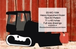 05-WC-1084 - Heavy Equipment Dozer Yard Art Woodworking Pattern