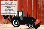 Heavy Equipment Farm Tractor with Backhoe Yard Art Woodworking Pattern