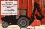 05-WC-1088 - Heavy Equipment Farm Tractor with Backhoe Yard Art Woodworking Pattern