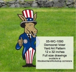 05-WC-1090 - Democrat Voter Yard Art Woodworking Pattern
