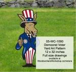 Democrat Voter Yard Art Woodworking Pattern