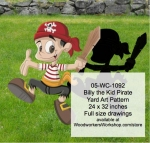 05-WC-1092 - Billy the Kid Pirate Yard Art Woodworking Pattern