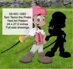 Terri Terror the Pirate Yard Art Woodworking Pattern woodworking plan