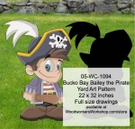 05-WC-1094 - Bucko Bay Bailey the Pirate Yard Art Woodworking Pattern
