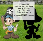 Squidlips Jack the Pirate Yard Art Woodworking Pattern woodworking plan