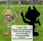 05-WC-1096 - Captain John Barnacle the Pirate Yard Art Woodworking Pattern