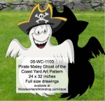 Pirate Matey Ghost of the Coast Yard Art Woodworking Pattern