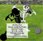 05-WC-1101 - Bones Jones the Pirate Yard Art Woodworking Pattern