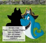 Pirate Chumbucket Charlie Yard Art Woodworking Pattern