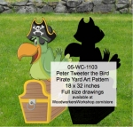 05-WC-1103 - Peter Tweeter the Bird Pirate Yard Art Woodworking Pattern
