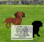Daschund Yard Art Woodworking Pattern