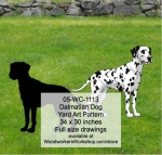 05-WC-1113 - Dalmatian Dog Yard Art Woodworking Pattern