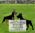 Doberman Dog Yard Art Woodworking Pattern