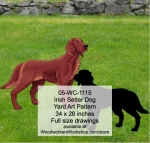 fee plans woodworking resource from WoodworkersWorkshop� Online Store - Irish Setter,dogs,pets,animals,yard art,painting wood crafts,scrollsawing patterns,drawings,plywood,plywoodworking plans,woodworkers projects,workshop blueprints