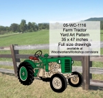 Farm Tractor Yard Art Woodworking Pattern